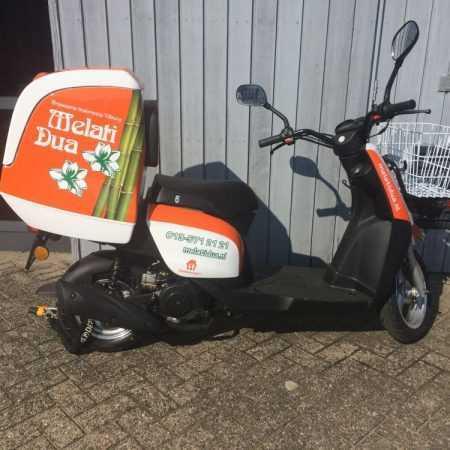 Scooter beletteren sticker merk folie logo reclame