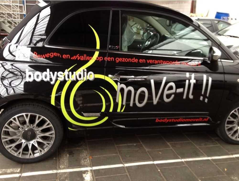 Bedrijfsauto bus beletteren sticker merk folie logo reclame