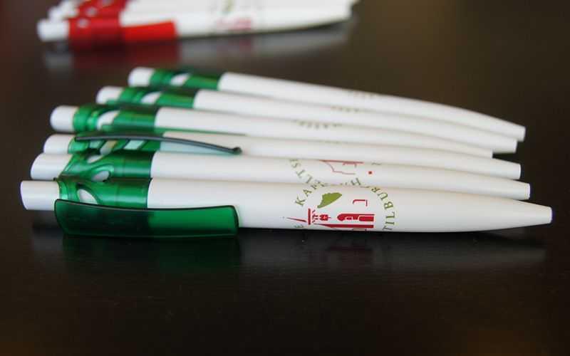 Bedrukte pennen van Hasseltse Kapel