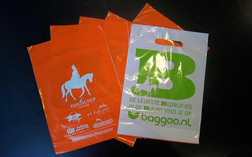Bedrukte plastic tasjes Baggoo.nl