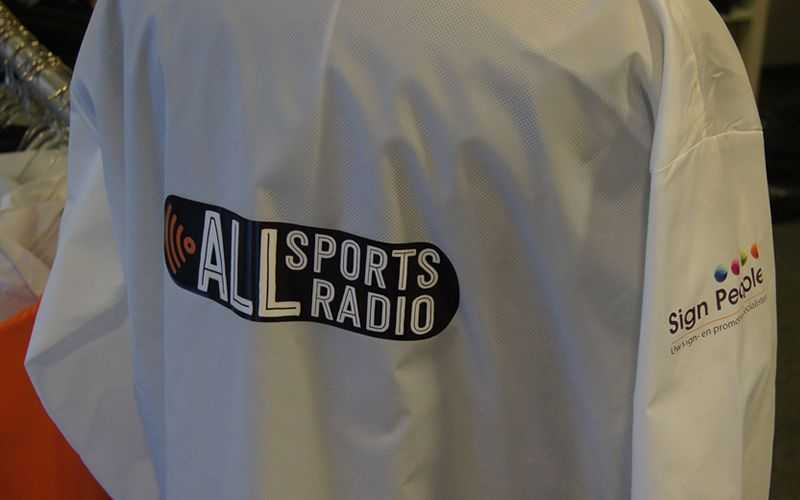Logo op jas All sports radio