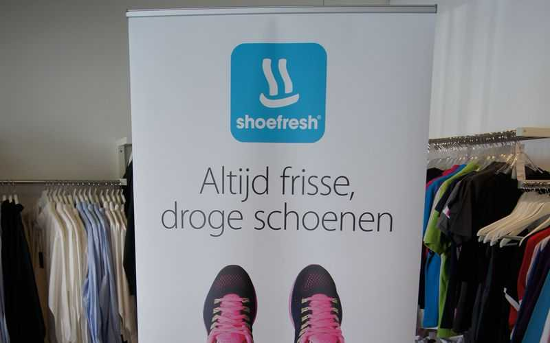 Geprinte roll up banners Shoefresh