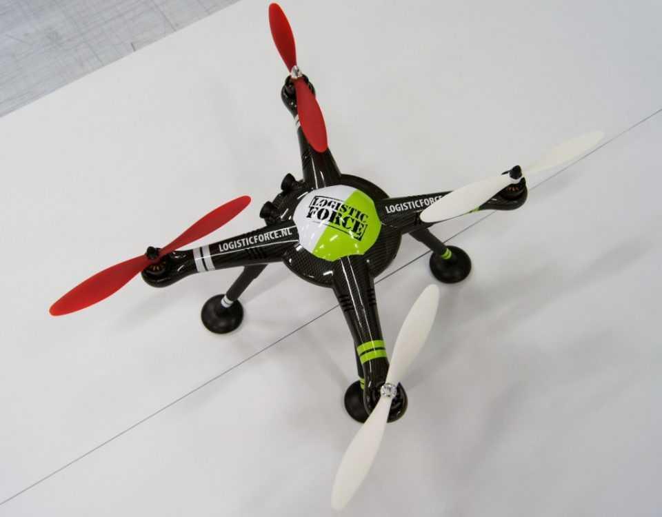 Logo op een drone