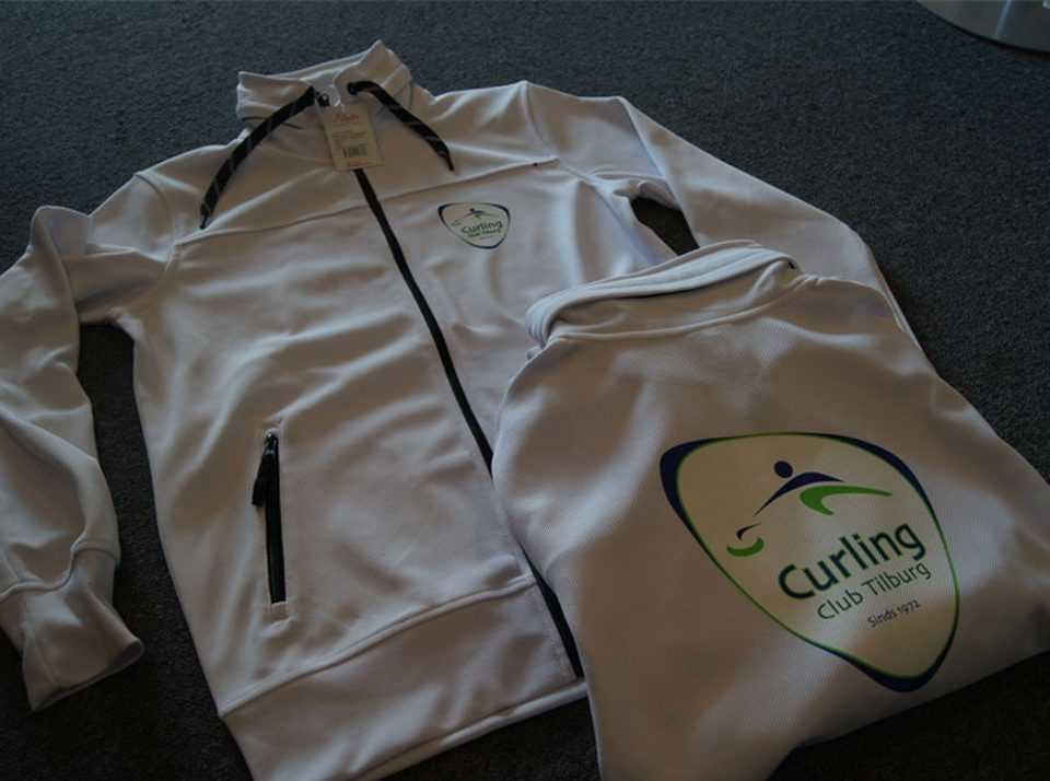 Vest met logo bedrukt