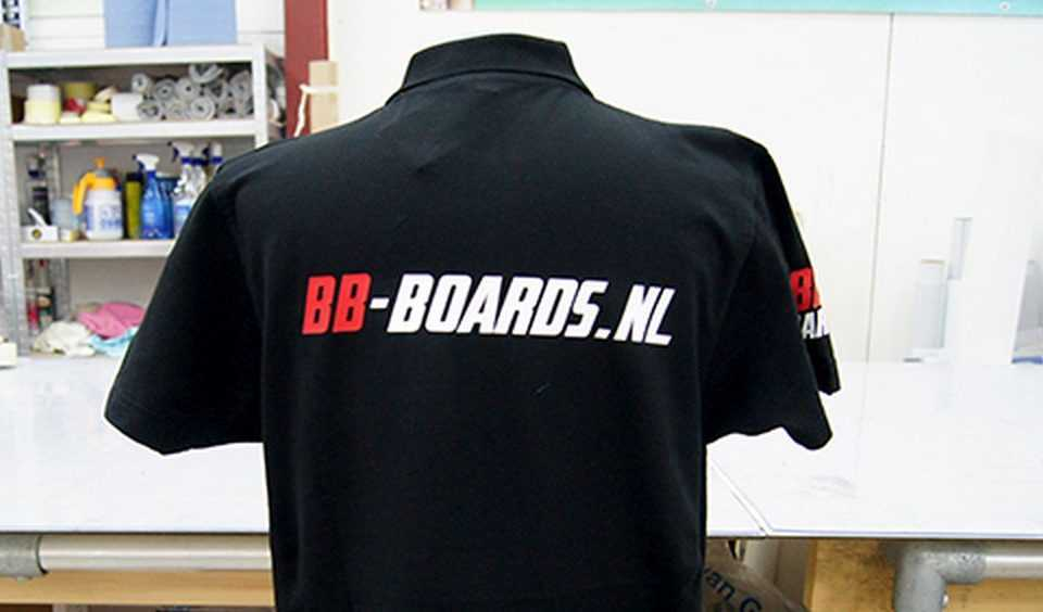 Polo met logo bb-boards.nl