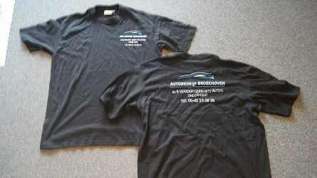 Zwart T-shirt Autobedrijf Broekhoven