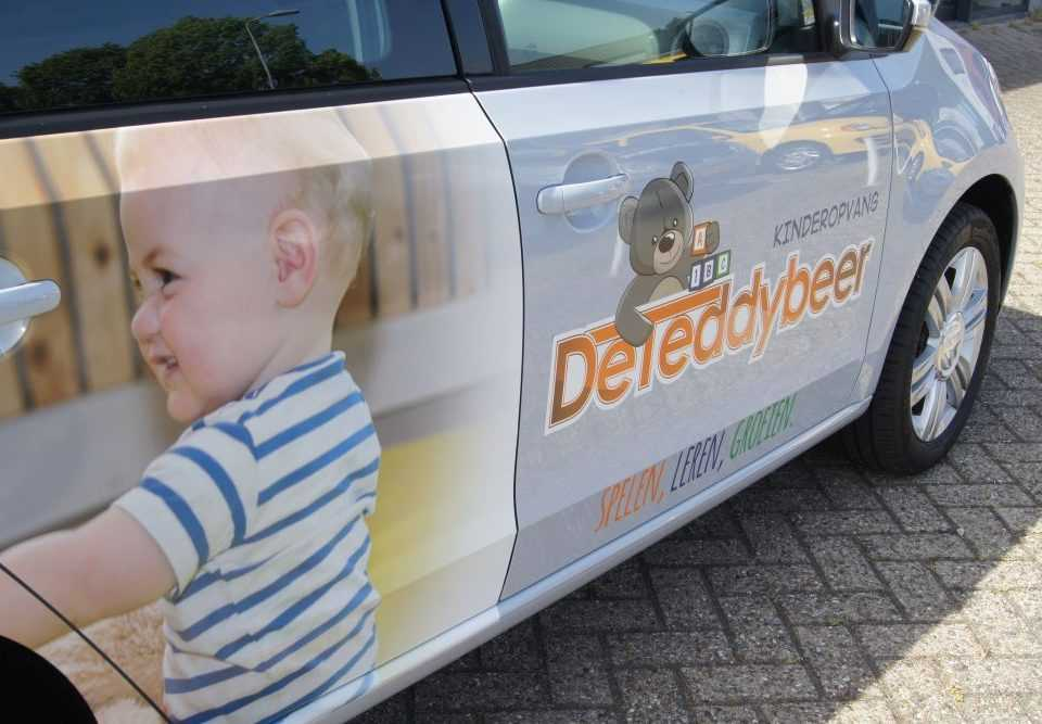 Auto belettering logo De Teddybeer