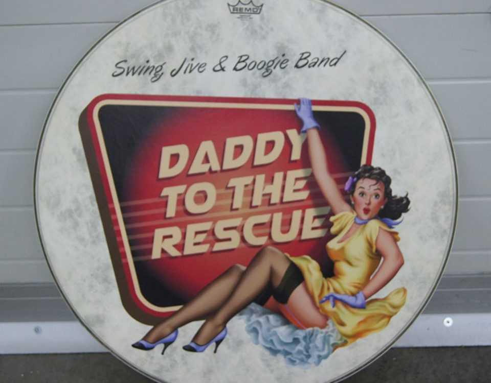 Plaat met bedrukking Daddy to the rescue