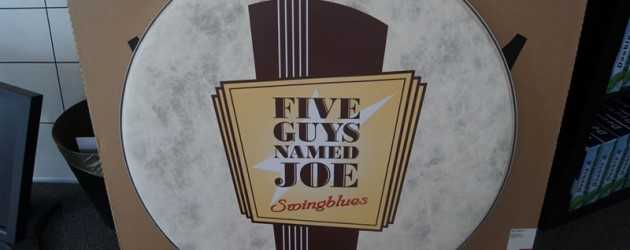 five guys named joe belettering sticker