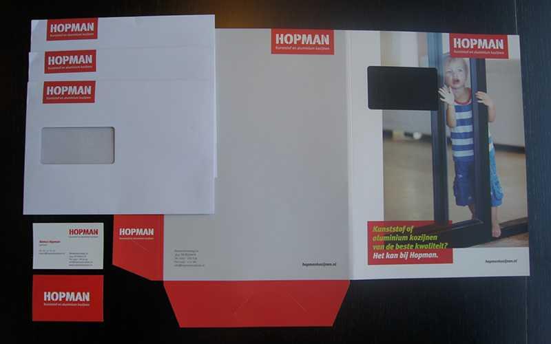 Hopman Drukwerk enveloppen, visitekaartjes en insteekmap