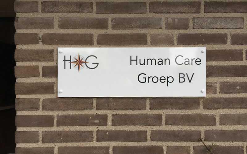 Human Care Groep Print op plaat