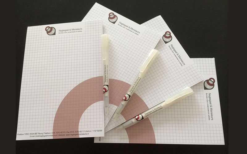 Nagtegaal & Monsieurs drukwerk notitieboekjes