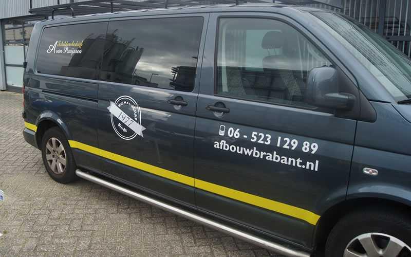 Autobelettering bedrijf A van Pruijssen