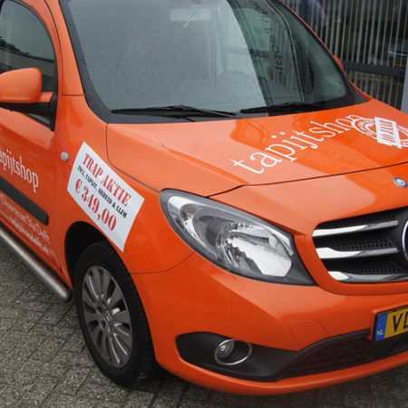 Tapijtshop Delft Autobelettering Tapijtshop