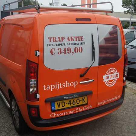 Tapijtshop Delft Autobelettering