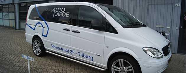Autobelettering AutoKafoe folie sticker merk