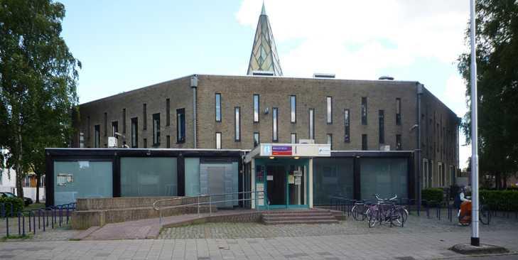 wijkcentrum Sant buitenreclame