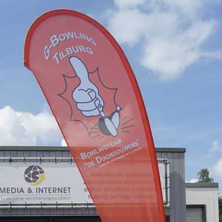 Beachvlag G-bowling Tilburg