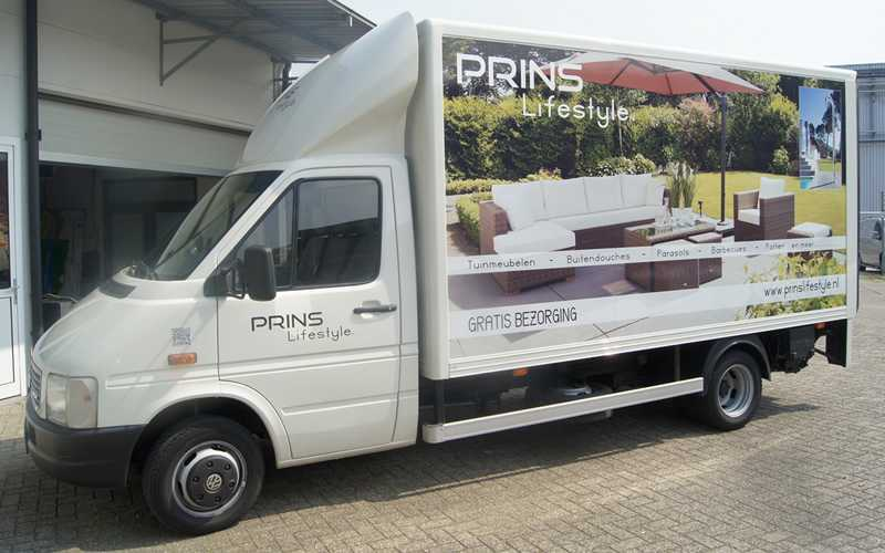 Prins Lifestyle Autobelettering bakwagen
