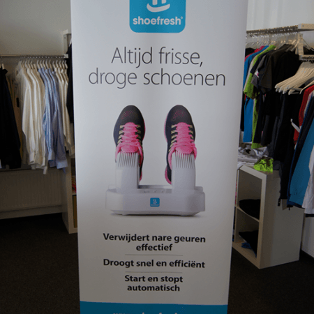 Roll up banner Shoefresh maken