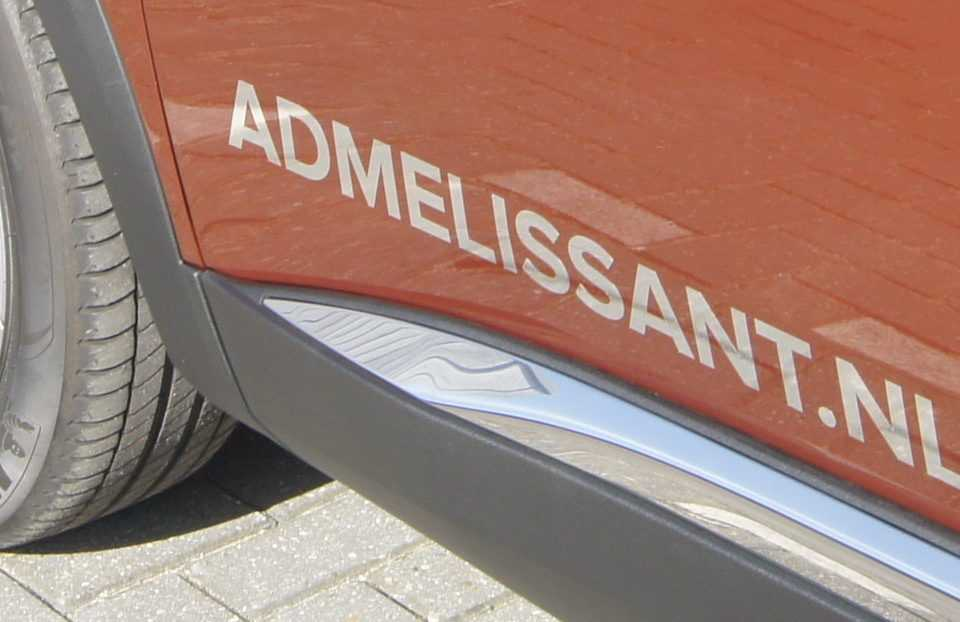 Autoreclame bestickeren ad melissant.nl