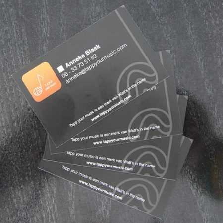 Tapp your music Drukwerk visitekaartjes