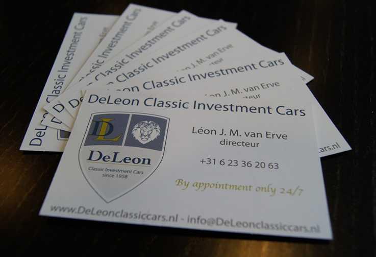 DeLeon Classic Cars Drukwerkn visitekaartjes