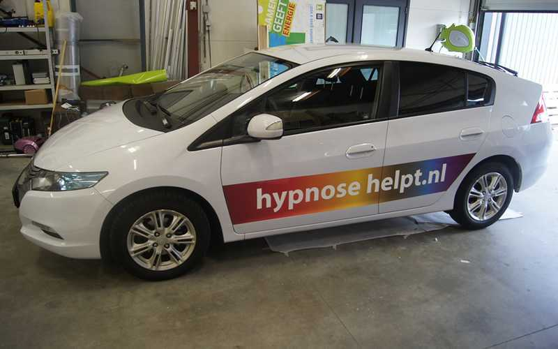 Hypnose helpt Autobelettering Honda Insight