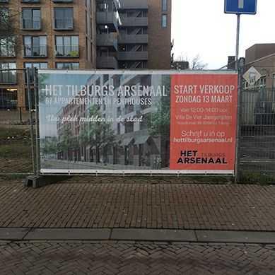 bouwhekdoek in Tilburg