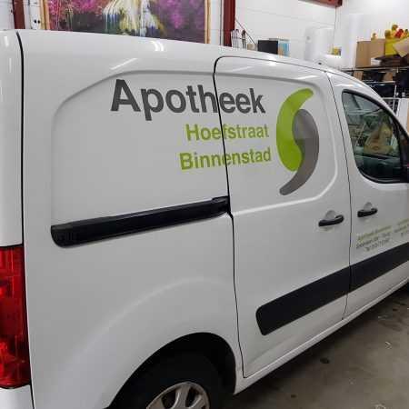 Apotheek hoefstraat Tilburg bus logo