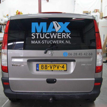 Max Stucwerken Busbelettering