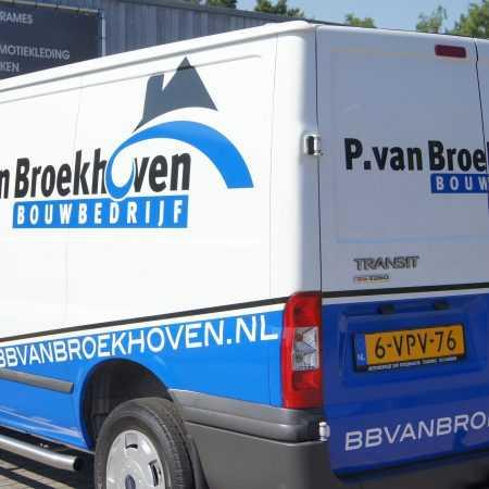 P. van Broekhoven Bus belettering
