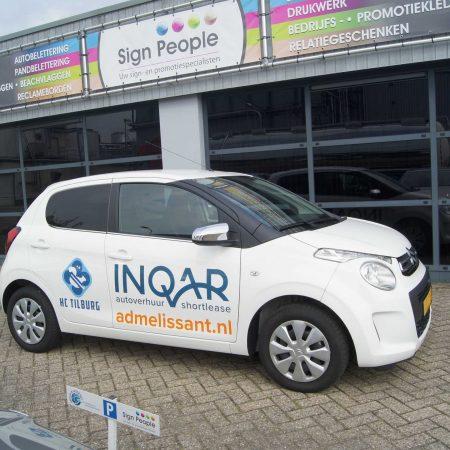 Auto belettering Inquar personenauto's
