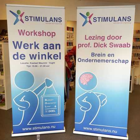 Stimulans banners roll up