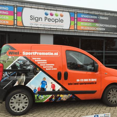 Carwrap bestelauto Sport en meer
