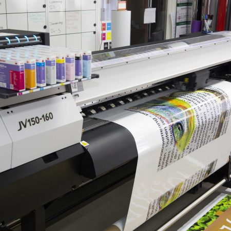 Printer om grootformaat prints te drukken