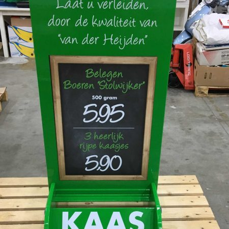 Display met sticker bedrukking