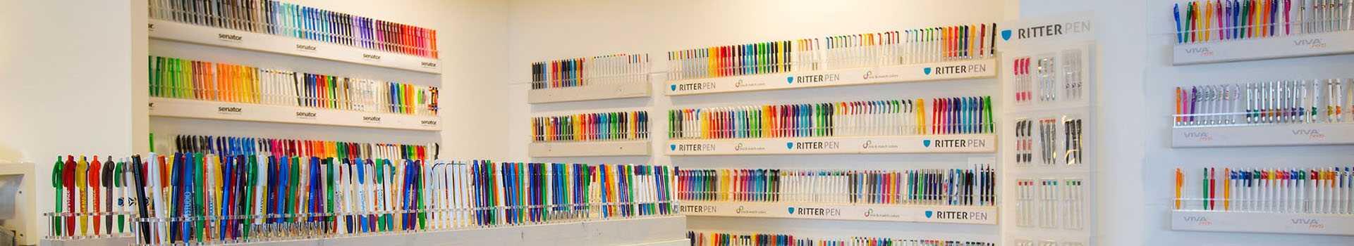 Pennen gehele collectie kan bedrukt worden