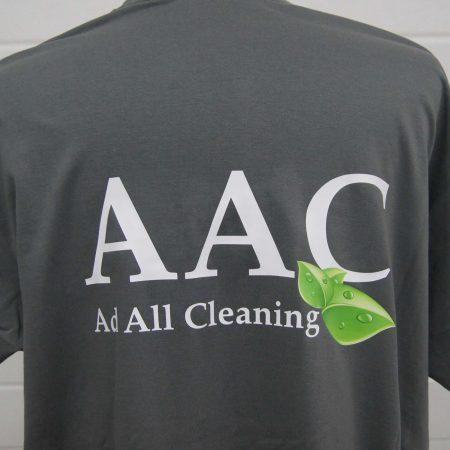 Grijs t-shirt met logo bedrukt
