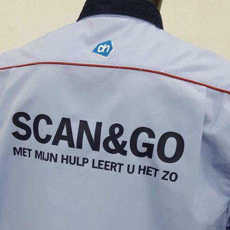 Albert Heijn kleding bedruk scan & go