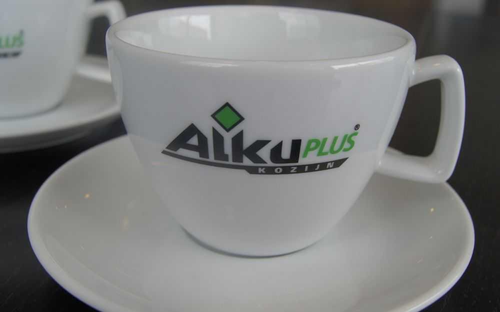 Koffie kopje bedrukken logo merk tekst relatiegeschenk