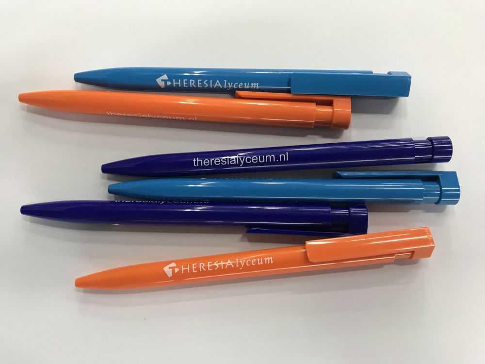 Pennen bedrukt met logo Theresia Lyceum