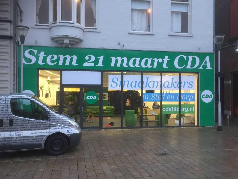 Gevel reclame bedrukken printen logo pand