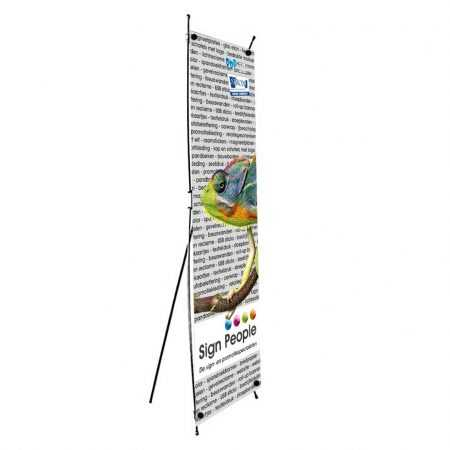 X banner bedrukt