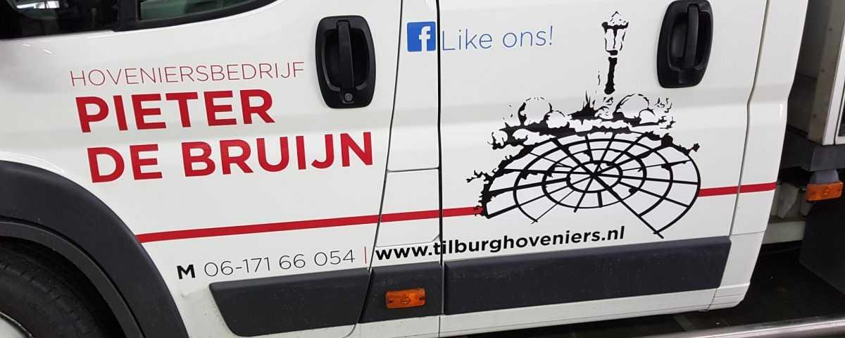 Reclame belettering logo tekst bedrijfsauto sticker