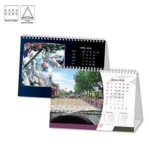 Bureau kalender met logo staand bedrukken printen