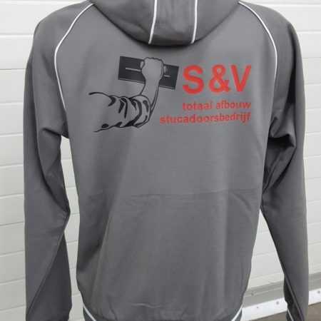 Bouw trui met logo en tekst bedrukken