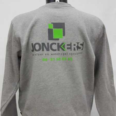 Bouw kleding trui met logo en tekst bedrukken