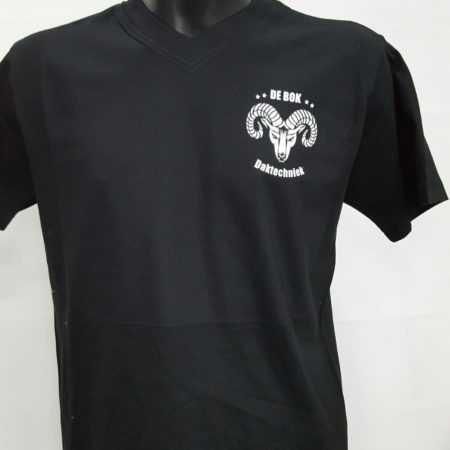 Bouw kleding t-shirt met logo en tekst bedrukken