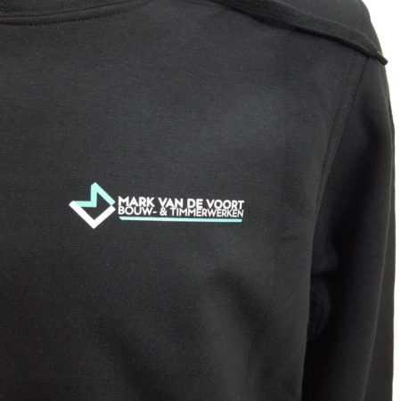 Bouw kleding vest met logo en tekst bedrukken